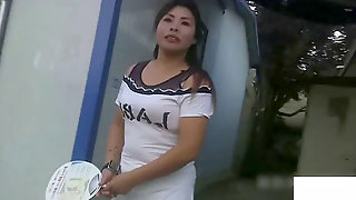 Japanese Village Hooker at Work - chubby milf