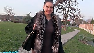 MILF Tasha Holz gets fucked for money on this amateur video