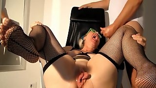 Fat pumped pussy fisting orgasm and blowjob