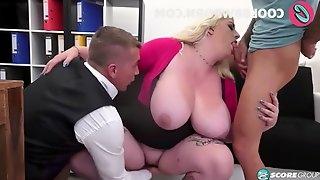 Blonde bbw big tits threesome