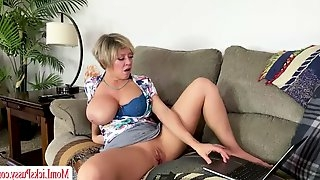 Stepmom watches stepdaughters sex video