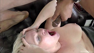 Chubby mature Lacey Starr gets fucked by a underfed black dude