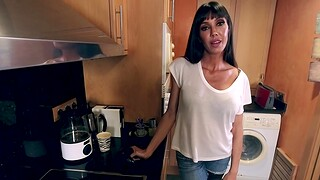 Hot ass MILF Sofia Notability upon stockings and high heels enjoys having sex