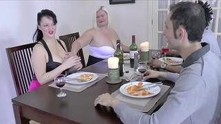 FFM inexpert trio with chubby babes Lacey Starr plus Devon Breeze
