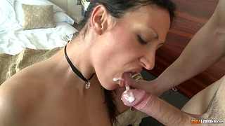 Passionate fucking with a hot ass exotic ends with cum in mouth