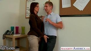 Principal anal copulation with seductive mature crammer Syren De Mer