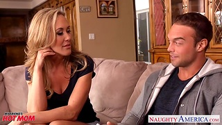 Hot blooded cougar Brandi Love is hope be fitting of son's best friend