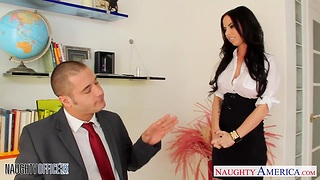 Cute place floozy Brandy Aniston seduces young boss Danny Mountain