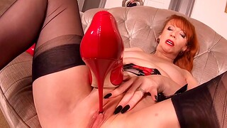 Hot busty MILF In flames XXX is fully fucking horn-mad