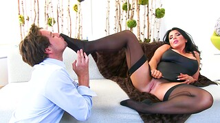 Chubby wife Romi Rain gets fucked hard by a uncalculated stranger