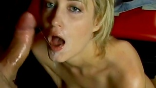 Blonde Slut Gets Mouth Fucked For Good And Know The Feelin