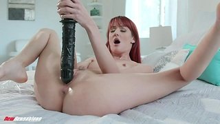 Gigantic sex toys stretch insatiable cunt of oversexed housewife Andi Rye