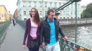 Amateur girl from St Petersburg  takes cumshots on ass on be transferred to first rendezvous