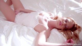 Crimson Redhead MILF Babe Sucking Like Faultless Couple