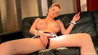 Interracial anal sex with redhead maid Tarra Vapid in high heels