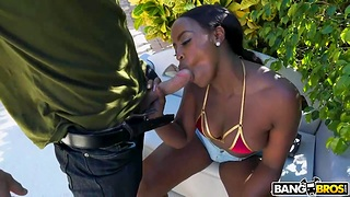 Awe-inspiring interracial porn featuring big black plunder Nyna Stax and big white cock Sean Lawless