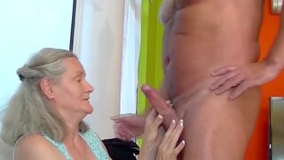 Big natural breast 72 years old grandma gets rough coupled with gaping void fucked