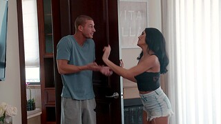 Nice fucking in an obstacle bedroom with seductive model Chloe Amour