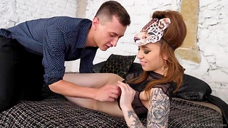 Inked chick Monika Wild is toyed and fucked anally off out of one's mind new boyfriend
