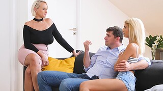 Incredible FFM threesome with MILF Angel Wicky and girlfriend Missy Luv