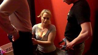 German homemade threesome blowjob mmf take cum in mouth milf